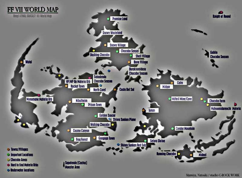 Ff7 Karte.Weltkarte Finalcraft Com